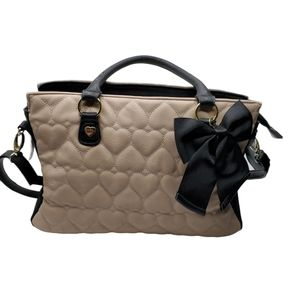 BETSEY JOHNSON QUILTED HEARTS BAG